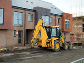 JCB Digger at Construction Site — Stock Photo