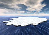 Broken Ice Sheet Floating in Open Ocean — Stock Photo