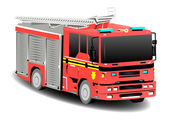 Red Emergency Services Firetruck Fire Engine — Stock Photo