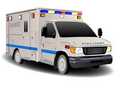 Modern Emergency Services Ambulance Illustration — Stock Photo