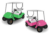 Two Golf Cart Buggies Illustrations — Stock Photo