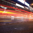 Urban night traffics view — Stock Photo