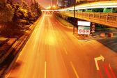 Urban night traffics view — Stock Photo