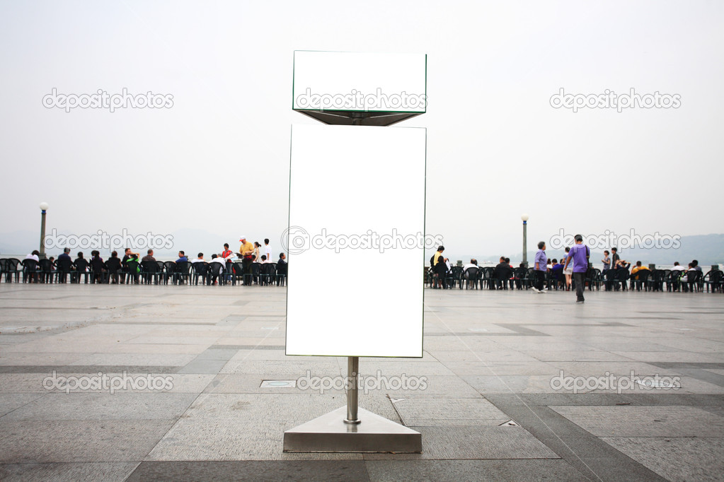 Blank billboard stand on the street — Stock Photo #10730396