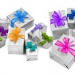 Large group of christmas presents - Stock Photo
