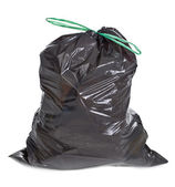Tied garbage bag — Stock Photo