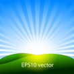 Sunny hill — Stock Vector #10553421