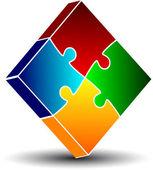 Icono de puzzle — Vector de stock