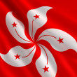 Flag of Hong Kong - Stock Photo