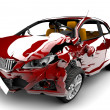 Red car accident — Stock Photo #9505065