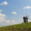 Rural landscape with old windmill, Ukraine — Stock Photo