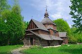 Woods, halk sanatları müzesi, pirogovo, kiev ukrayna kırsal ortodoks kilisesi — Stok fotoğraf
