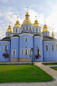 St. Michael's Golden - Domed Monastery - famous church complex, Kiev — Stock Photo