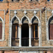 Antique facade of an old building, Venice — Stock Photo