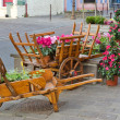 European town street with wooden flower pot — Stock Photo #8289867