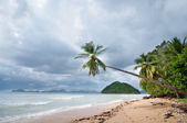 Stormy exotic beach — Stock Photo