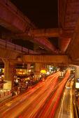 Gece trafik — Stok fotoğraf