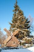 Idyllic winter scene — Stock Photo