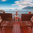 Exotic seaside terrace with beautiful sea view — Stock Photo