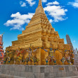 Wat Phra Kaeo Temple, Bangkok landmark — Stock Photo #8290036