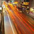Light trails in Bangkok - Stock Photo
