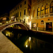 Night Canal in Venice — Stock Photo #8296955