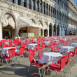 San Marco square street cafe, Venice - Stock Photo