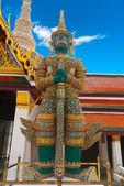 Grand palace Guardian, Bangkok — Stock Photo