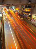 Light trails in Bangkok — Stock Photo