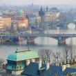 Prague Bridges and Vltava river breathtaking view — Stock Photo