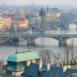 Stock Photo: Prague Bridges and Vltava river breathtaking view