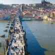 Charles Bridge, Prague Castle and Vltava river, Prague — Stock Photo