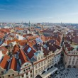 Red roofs of Old City central square, Prague — Stock Photo #8334139