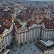 Old town square, aerial view, Prague — Stock fotografie