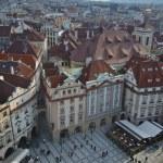 Eski Şehir Meydanı, havadan görünümü, Prag — Stok fotoğraf