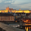 Panorama of Prague with Prague Castle, Czech Republic — Stock Photo