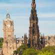 The Scott Monument and Balmoral (formerly North British) Hotel, Princes Str - Stock Photo
