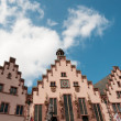Historical Romer Square in city of Frankfurt Main, Germany — Stock Photo #8334764