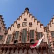 Historical Romer Square in the city of Frankfurt Main, Germany - Stock Photo