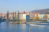 Beautiful Prague Quay — Stock Photo