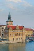View from the Charles bridge to Smetana Museum, Prague, Bohemia — Stock Photo