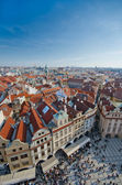 Red roofs of Old City central square, Prague — Stock Photo