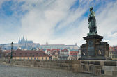 Statue in Charles Bridge — Stock Photo