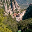 Montserrat Monastery and mountain cable car, Spain — Stock Photo
