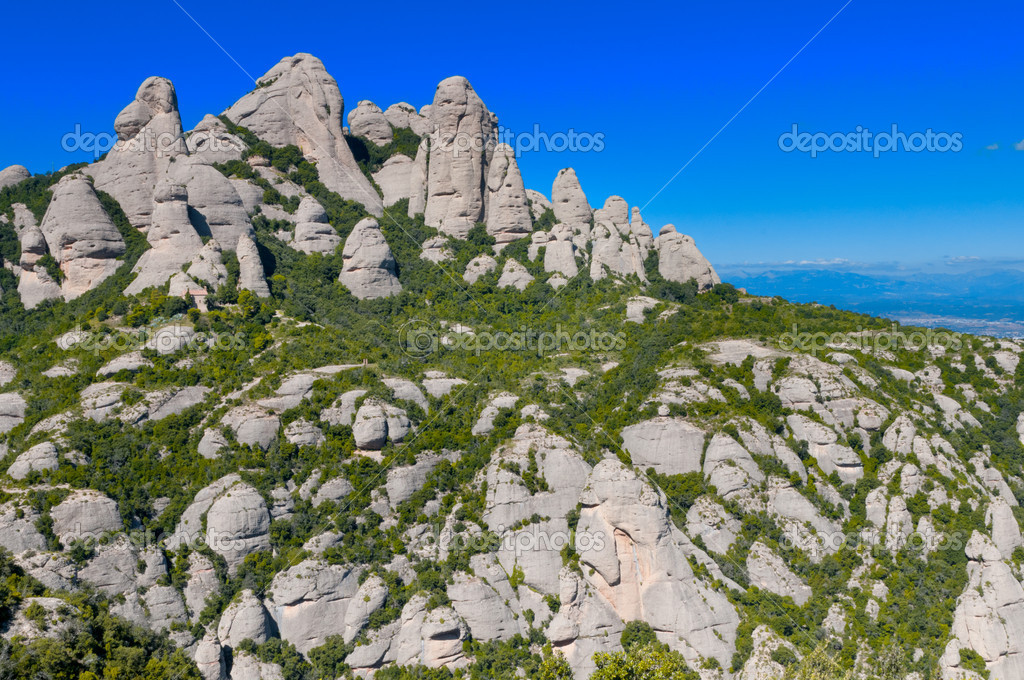 Montserrat mountains in Catalonia, Spain — Stock Photo #8510372