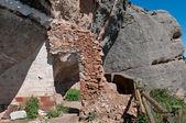 Old door remains in Montserrat mountain, Spain — Stock Photo