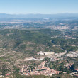 Stock Photo: View from Montserrat mountain, Spain