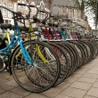 Stock Photo: Row of bicycles