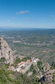 Top view to Montserrat Abbey, Spain — Stockfoto