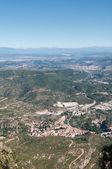 View from Montserrat mountain, Spain — Stok fotoğraf